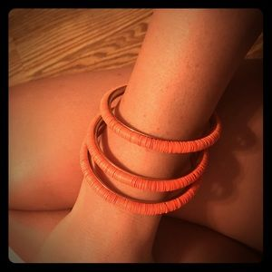 Jewelry - Stackable coral bracelets